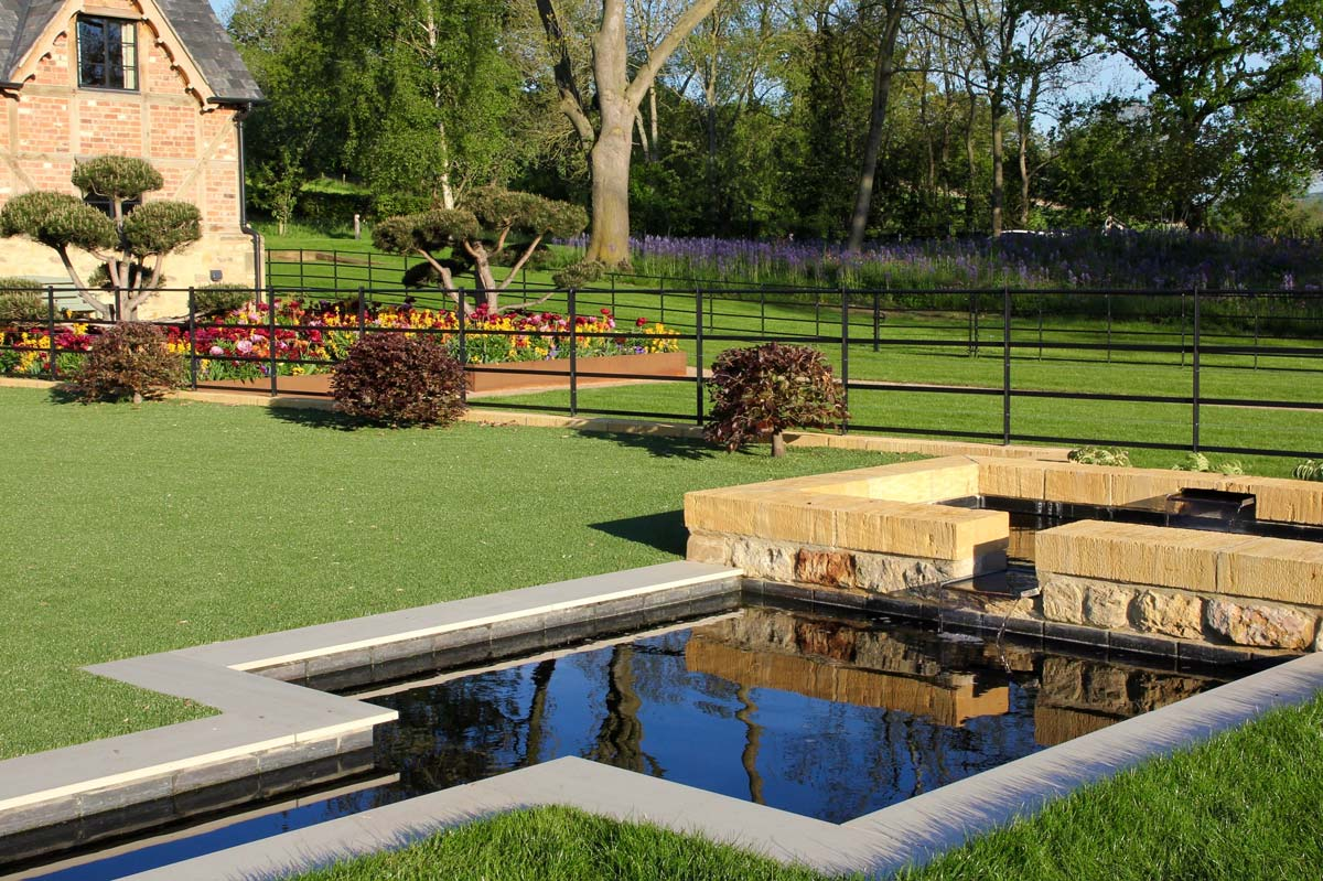 Contemporary Country Garden design and landscaping